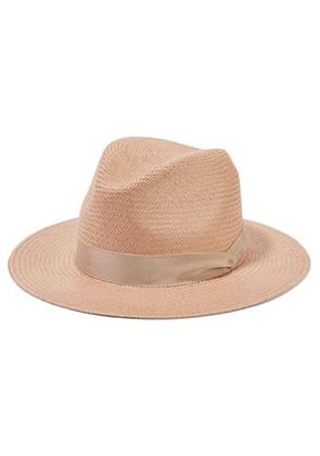 Rag & Bone Woman Panama Straw Hat Blush Size S/M