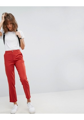 ASOS Chino Trousers In Red - Red
