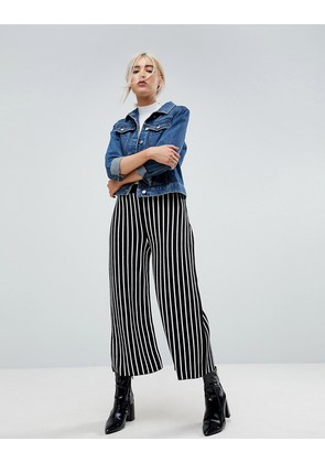 ASOS Knitted Culottes in Stripe - Mono