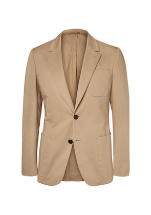 Beige Stretch-cotton Blazer