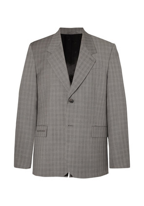 Archetype Oversized Prince Of Wales Checked Wool And Mohair-blend Blazer