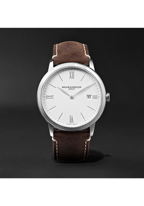 My Classima 40mm Stainless Steel And Leather Watch