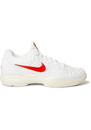 Air Zoom Cage 3 Hc Rubber And Mesh Tennis Sneakers