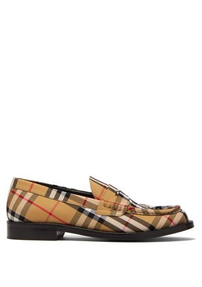 Bedmont Vintage-check loafers