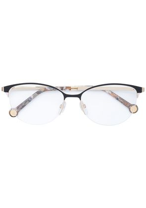 Ch Carolina Herrera cat eye glasses - Metallic