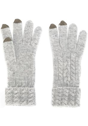 N.Peal cable-knit gloves - Grey