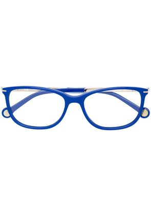 Ch Carolina Herrera rectangular-frame glasses - Blue