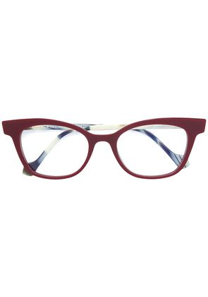 Face À Face cat-eye shaped glasses - Red