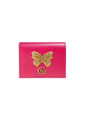 Gucci Leather card case with butterfly - Pink & Purple