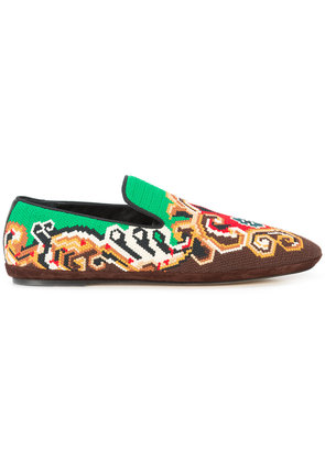 Loewe embroidered slippers - Multicolour