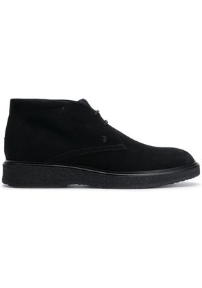 Tod's flat lace-up boots - Black