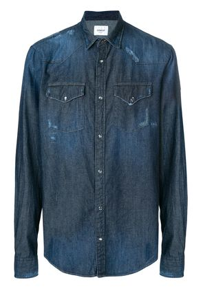 Dondup distressed denim shirt - Blue