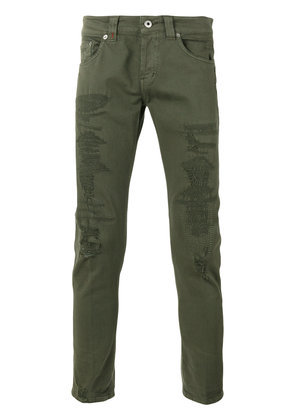 Dondup distressed skinny jeans - Green
