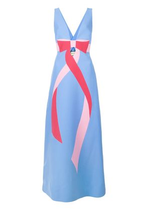 Gucci bow detail dress - Blue