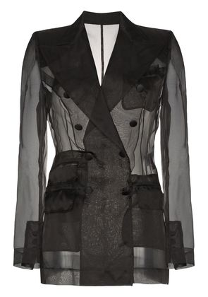 Dolce & Gabbana Sheer organza double breasted jacket - Black