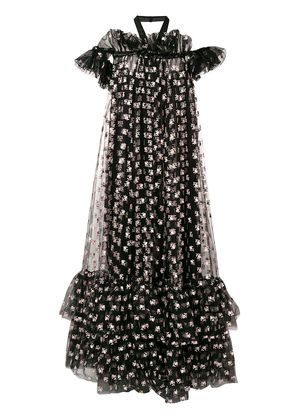 Giambattista Valli floral-printed maxi dress - Black