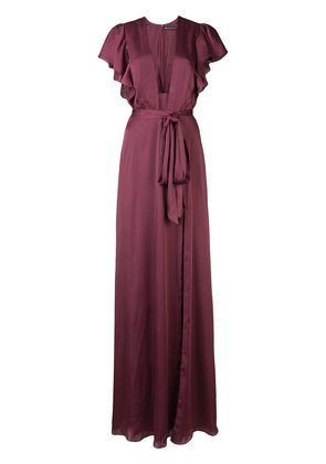 Jill Jill Stuart deep V-neck gown - Pink & Purple
