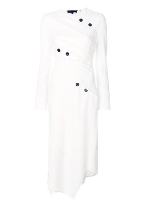 Proenza Schouler Spiral asymmetric midi dress - White