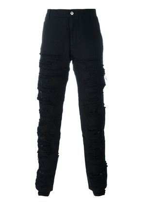 Hood By Air canvas shredded pants - Black