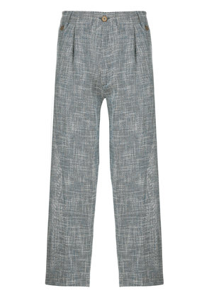 Costumein woven cropped trousers - Blue