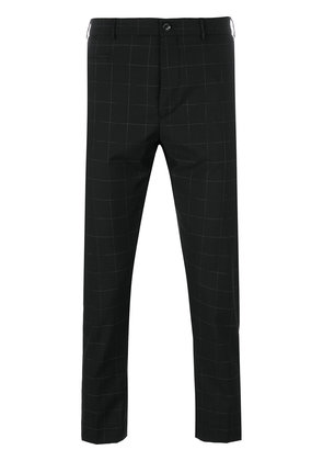 Berwich windowpane check cropped trousers - Black