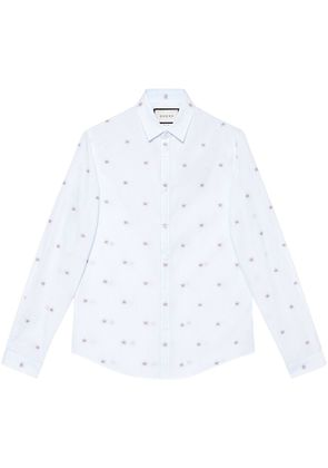 Gucci 25 star fil coupé Duke shirt - Blue