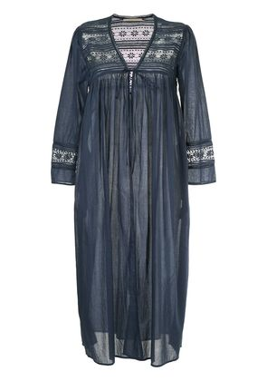 Ne Quittez Pas lace detail long gown cardigan - Blue
