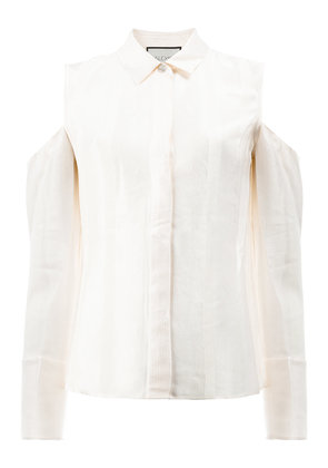 Alexis shirt with cutout shoulders - White