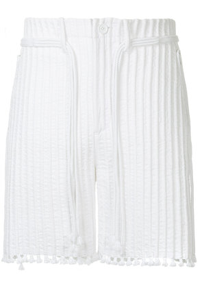 Craig Green cord and tunnel shorts - White