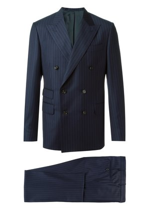 Fashion Clinic Timeless pinstriped double-breasted suit - Blue