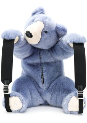 Dolce & Gabbana faux fur teddy backpack - Blue
