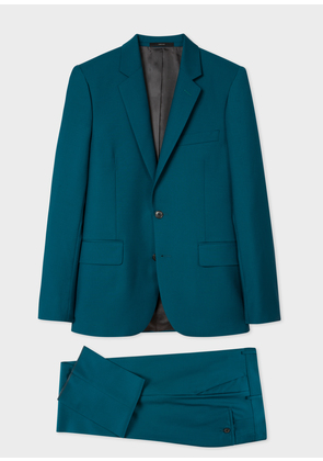 The Soho - Men's Tailored-Fit Petrol Wool-Mohair 'A Suit To Travel In'