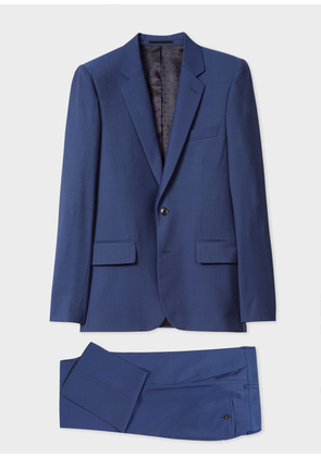 The Soho - Men's Tailored-Fit Blue Wool Suit