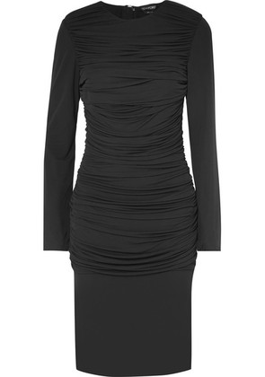 TOM FORD - Ruched Jersey Dress - Black
