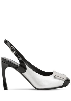 70MM TROMPETTE LEATHER SLINGBACK PUMPS