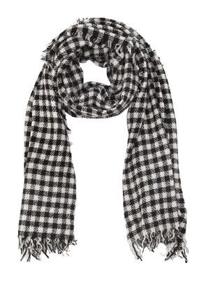PAOLO CHECK CASHMERE BLEND SCARF