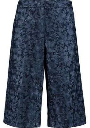 Dkny Woman Embroidered Tulle Shorts Midnight Blue Size 2