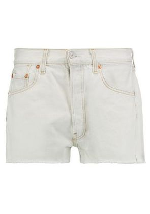 Re/done Woman Denim Shorts Off-white Size 27