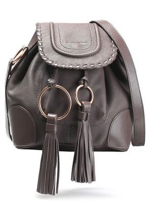 See By Chloé Woman Polly Textured-leather Shoulder Bag Taupe Size -