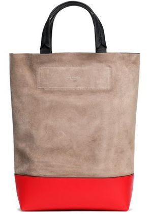 Rag & Bone Woman Two-tone Leather-paneled Suede Shoulder Bag Red Size -