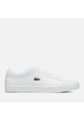 Lacoste Men's Straightset Bl 1 Leather Trainers - White - UK 7 - White