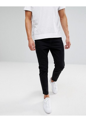ASOS Tapered Jeans In Black - Black
