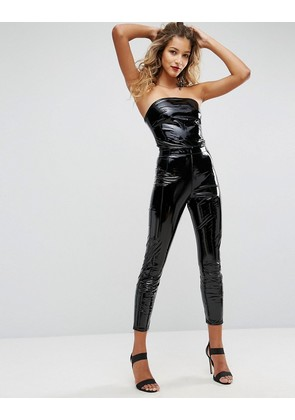 ASOS Unitard in Black Vinyl - Black