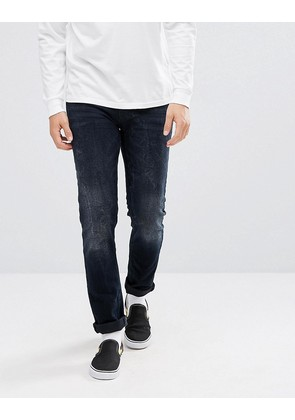 ASOS Skinny Jeans In Blue Black - Dark wash blue