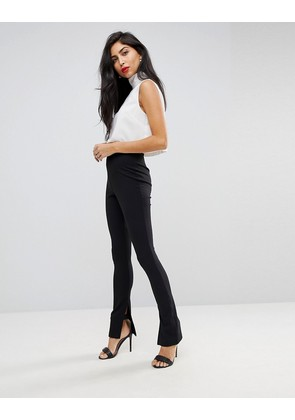 ASOS Superlong Skinny Trousers with Side Splits - Black