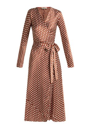 Baker polka-dot wrap-around silk dress