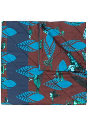 Odeeh print quilted scarf - Blue