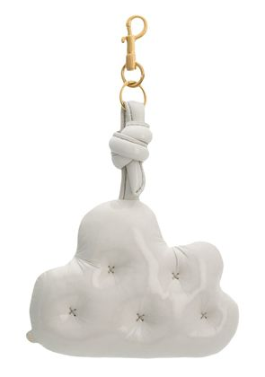 Anya Hindmarch quilted cloud keyring - White