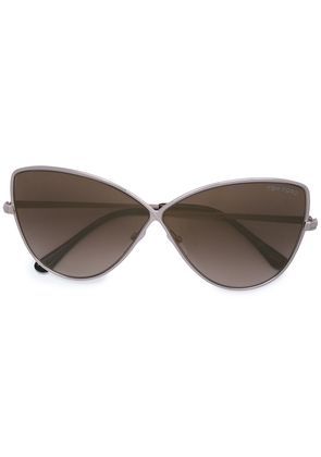 Tom Ford Eyewear Elise butterfly style sunglasses - Nude & Neutrals