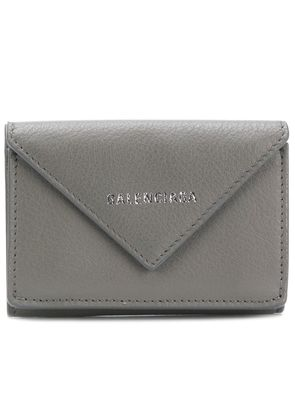 Balenciaga Paper mini wallet - Grey